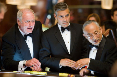 photo credit blacktieguide.com Ocean's 13 featured black tuxedos peaked lapel notched lapel shawl lapel black bowties
