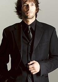 Black Tie And Black Shirt