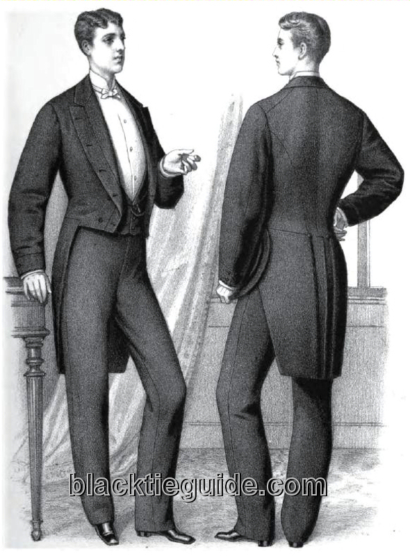English Evening Dresses For Men In The 1880s - Evening Wear