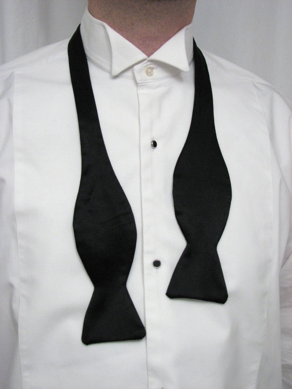 Black tie guide style tying a bow tie tie a knot to position the tie ccuart Choice Image