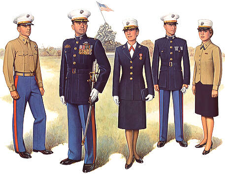 Usmc evening dress uniform medals